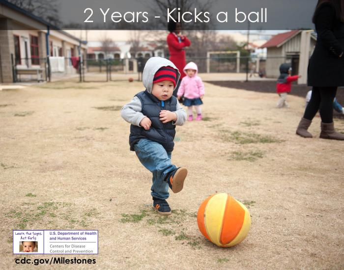 Kicks a ball