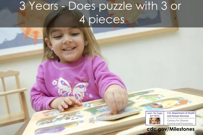 Does puzzles with 3 or 4 pieces